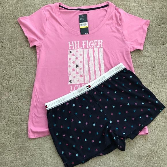1384bfd77bab3 Tommy Hilfiger Sleepwear Pajamas Set NWT M